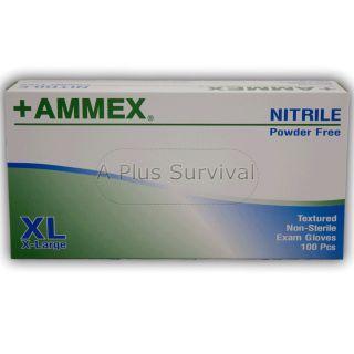 100 Blue Nitrile Medical Exam Safety Gloves Extra Large Size Latex