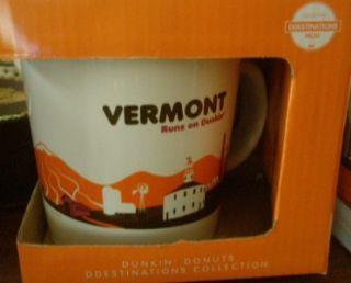 Dunkin Donuts D Destinations Limited Edition 14 oz Ceramic Mug Vermont