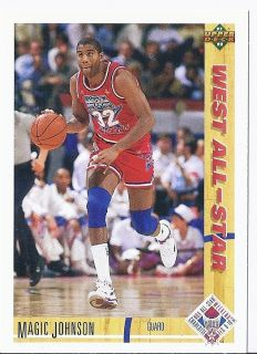 Earvin Magic Johnson 1991 92 Upper Deck West All Star 57 Los Angeles