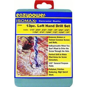 general interest eazypower corp 80988 13 piece left hand drill bit