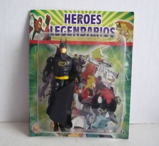 Mexican Batman Toy Figure Plastic Toy Made in Mexico