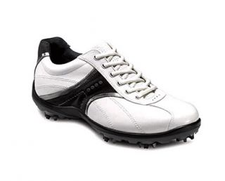 Ecco Mens Casual Cool Golf Shoes 56995 White Buffed Silver Moonless