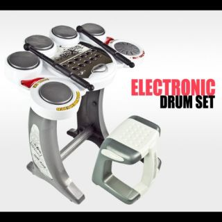 Features of Drum Set Musical Instrument Toy Playset Digital Pad Music