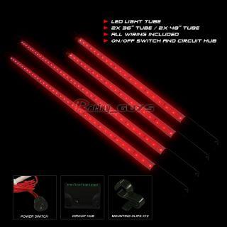 UNDERCAR KIT RED LED NEON LIGHTS ECLIPSE EVOLUTION 8 9 3000GT