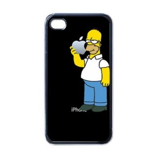 Homer Simpson Apple iPhone 4 Hard Plastic Case Cover