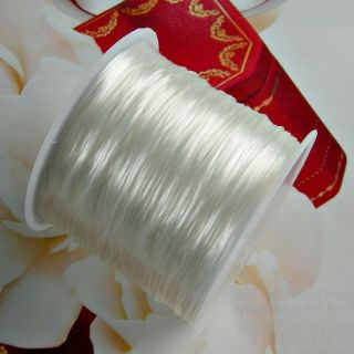 80 Meters White Stretch Elastic Beads cord Jewelry Finding Bracelet 0