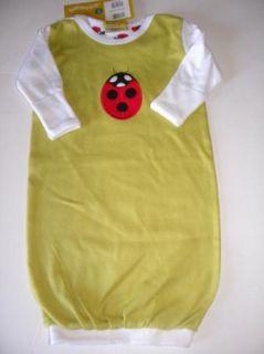 New Kalencom Eleanor Grosch Ladybug Baby Infant Gown Sz NB Newborn