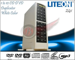 CD DVD Duplicator White Color with 25pcs Professional DVD Disc