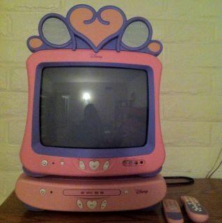 Pink Disney Princess 19 TV DVD VCR Combo