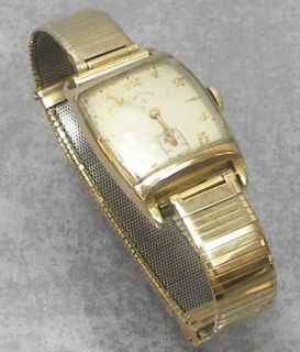 Vintage Lord Elgin 626 21J Mens Watch, Date, 14K Gold Filled, Inset