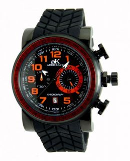 This is a NEW ADEE KAYE MENS BLACK DIAL CHRONOGRAPH JAPANESE QUARTZ