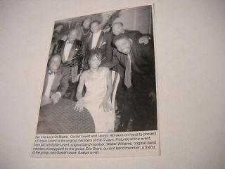 Lauryn Hill Eddie Gerald Levert 1998 Promo Pic Text