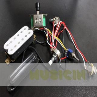 Electric Guitar Wiring Harness Kit w Humbucker Twin Coil Pickup for SG