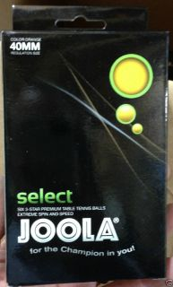 Joola SELECT Six 3 Star 40MM Table Tennis Balls Brand New Sealed in