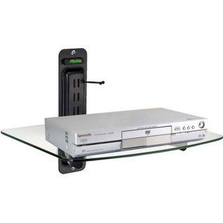 Wall Mount Adjustable DVD Shelf Black Electronics Rack TV Add On