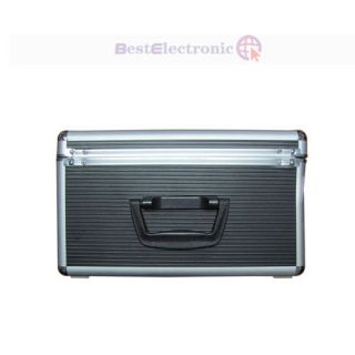 500 Capacity Aluminum CD DVD Storage Case with Sleeves