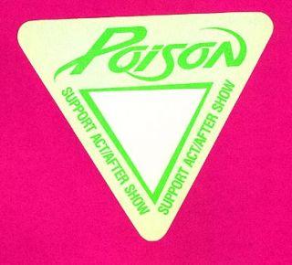 Poison Backstage Pass 1988 89 Tour VIP Slaughter G Tria