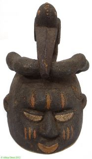 Yoruba Gelede Mask Bird/Snake on Top, Published, Museum Exhibition