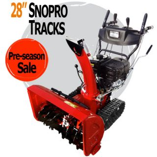 Snow Blower Deluxe Track 28 in Two Stage Electric Start Gas Snow