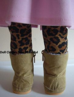Doll Clothes Fits American Girl Faux Suede Tan Boots