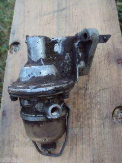Vintage Antique Fuel Pump Filter w Glass Sediment Bowl