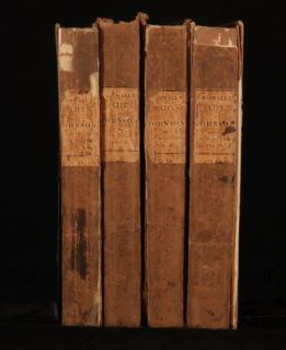1824 4 Vols Life of Samuel Johnson by James Boswell