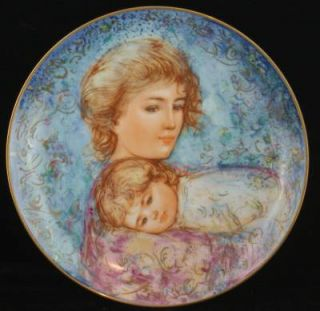 Edna Hibel Mothers Day Plate 1984 Abby Lisa Collector