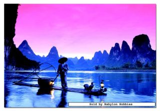 picture of EDUCA 500 pieces jigsaw puzzle Genuine   Fishing on the Li