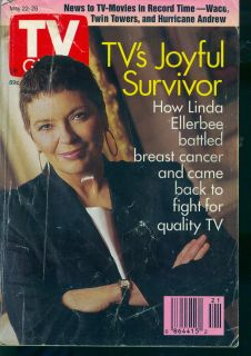 1993 TV Guide Linda Ellerbee  Breast Cancer Survivor s5d6f7g