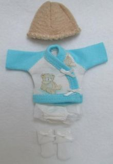 Ellery Kish OOAK Baby Doll 4 PC Diaper Shirt Clothes Outfit 5 6 Teddy