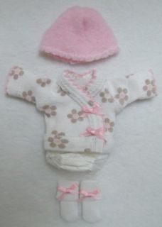 Ellery Kish OOAK Baby Doll 4 pc. Diaper Shirt Clothes Outfit 5 6 Mod