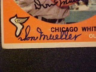 DON MUELLER (d.2011) HAND SIGNED 1959 TOPPS CARD