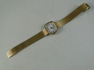 Jewel Swiss Wristwatch Watch E Gluck Unisex Ladies Gold Toned