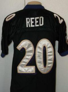 REEBOK SEWN ED REED #20 BALTIMORE RAVENS NFL JERSEY MENS SIZE 50