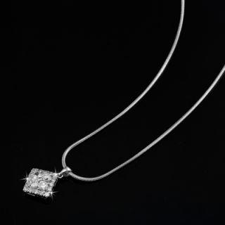 Genuine Swarovski Elements Diamond Pendant Necklace RRP $69