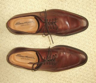 Santoni Mens Dress shoes oxfords 9 5 D Italy Cordovan Elliston