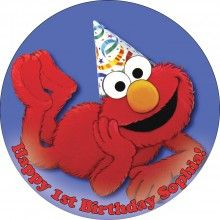 Elmo 6 Edible Cake Icing Image Topper Frosting Birthday Party