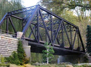 Atlas O 6921 2 Track 3 Rail Pratt Truss Bridge Kit Private Collection