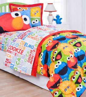 Street Chalk Twin Sheet Set Elmo Big Bird Single Bedding Sheets