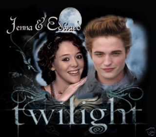 Twilight Custom Tshirt w Edward Cullen Robert Pattinson