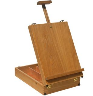 Table Top Wooden Artist Drawing Sketch Easel Box Elmwood