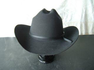 Eddy Bros Western Cowboy Cowgirl Horse Show Hat Black XX Fur Blend