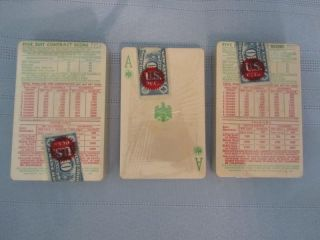 1938 Vintage New Eagle Five Suit Bridge Cards 3 SEALED Decks w Stamps