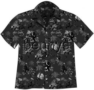 New Elvis Presley Motorcycles Hawaiian Camp Shirt L