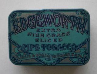 old edgeworth empty tobacco tin