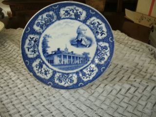 Vintage Petrus Regout Washingtons Home Mount Vernon Plate