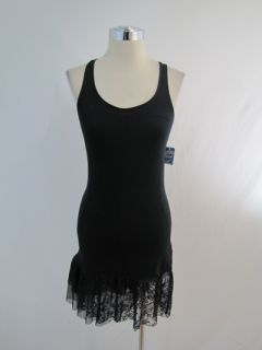 New Free People Intimates Black Lace Jersey Dress XSmall