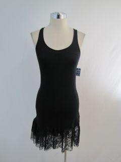 New Free People Intimates Black Lace Jersey Dress XSmall