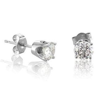 33 Carat Diamond Studs 14k White Gold Earrings