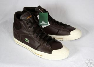 Lacoste Emin High Top Casual Dress Fashion Sneaker Boot Mens Shoes New